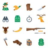 Hunting Icons Set Royalty Free Stock Photos