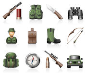 Hunting icons Royalty Free Stock Image
