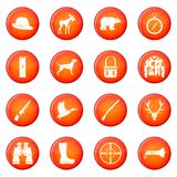 Hunting icons vector set Stock Images