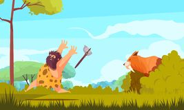 Free Hunting In Stone Age Royalty Free Stock Photo - 129246825