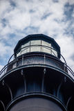 Hunting island lighthouse with blue sky stock photo