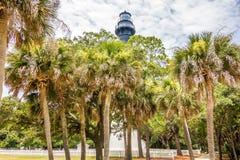 Hunting island lighthouse south carolina royalty free stock photography