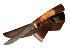 The hunting knife Stock Photography