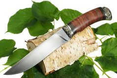 The hunting knife Stock Photos
