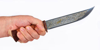 The hunting knife 2. The hunting knife for use at hunting for a large animal Stock Photos