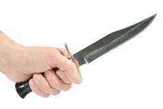 The hunting knife in the hand Stock Image