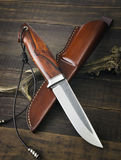 Hunting knife handmade Royalty Free Stock Photo