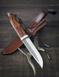 Hunting knife handmade Stock Image