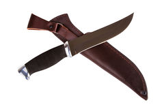 Hunting knife Stock Photo