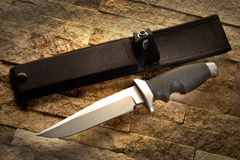 Hunting knife with a sheath Stock Image