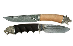 The hunting knifes Stock Image