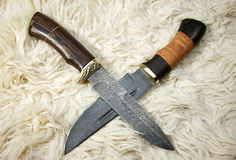 The hunting knifes Stock Photography