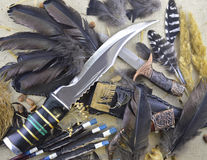 Hunting knives background Royalty Free Stock Images