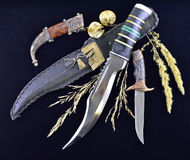 Hunting knives background 2 Stock Images