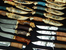 Hunting knives and daggers Stock Photos