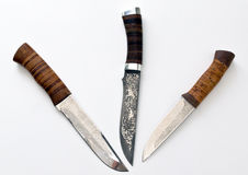 Hunting knives from Russia Stock Images