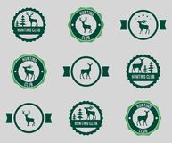 Hunting labels set Stock Photography