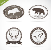 Hunting labels set Stock Image