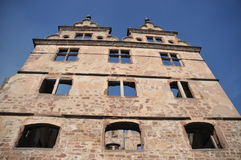 Hunting Lodge Hirsau. On the historic abbey site of Hirsau one can also find the beautiful old hunting lodge. This is a picture of the upper part of the building Royalty Free Stock Photography