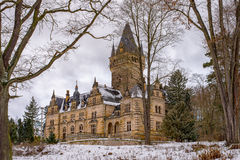 Hunting Lodge Hummelshain in winter I Royalty Free Stock Photography