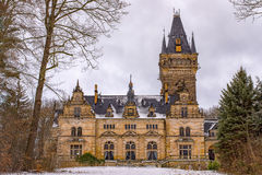 Hunting Lodge Hummelshain in winter II Royalty Free Stock Images