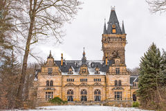Hunting Lodge Hummelshain in winter III Royalty Free Stock Photo