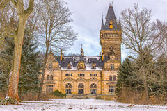 Hunting Lodge Hummelshain in winter IV Royalty Free Stock Photo