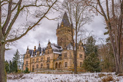Hunting Lodge Hummelshain in winter Stock Images