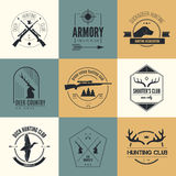Hunting Logos Royalty Free Stock Photo