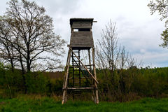 Hunting lookout tower forest Royalty Free Stock Photo