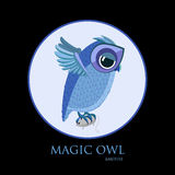 Hunting owl and mouse Royalty Free Stock Photo