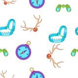 Hunting pattern, cartoon style. Hunting pattern. Cartoon illustration of hunting vector pattern for web Royalty Free Stock Photography
