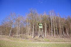 Hunting pulpit at the edge of a forest. Stock Images