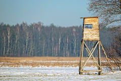 Hunting pulpit in winter Royalty Free Stock Photos