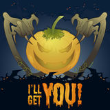 A hunting pumpkin illustration Royalty Free Stock Images