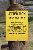 Hunting restriction sign Stock Photos
