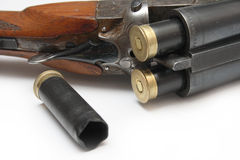 Hunting rifle. Shot and charged a hunting rifle Royalty Free Stock Photos