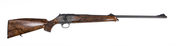 Hunting Rifle. Isolated hunting rifle on white background stock photo