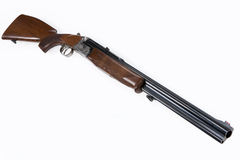 Hunting Rifle. Isolated hunting rifle on white background royalty free stock photo