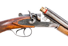 Hunting rifle on white background Royalty Free Stock Photos