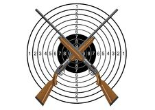 Hunting rifles and target Stock Images