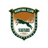 Hunting safari club vector sign Stock Images