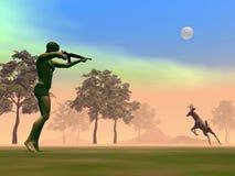 Hunting scene - 3D render Stock Photo