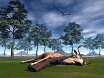 Hunting scene - 3D render Stock Photography