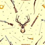 Hunting seamless pattern Royalty Free Stock Image