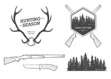 Hunting set Stock Photos
