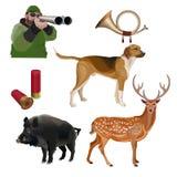 Hunting set vector royalty free illustration