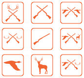 Hunting shot gun icon. S set. Vector illustration Stock Photo