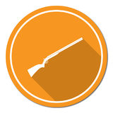 Hunting shot gun icon. Vector illustration Royalty Free Stock Photography
