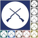 Hunting shot gun icon. Vector illustration Royalty Free Stock Image
